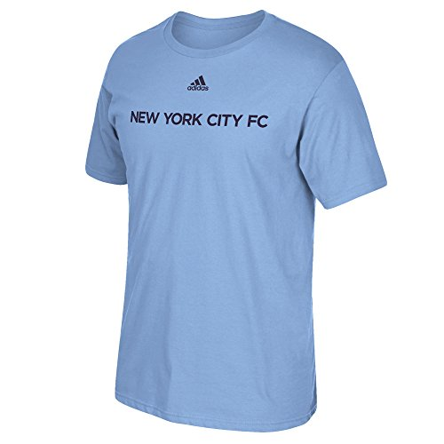 fan products of MLS New York City FC Men's Primary One Short Sleeve Tee, Medium, Light Blue
