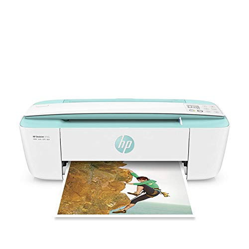 HP DeskJet 3755 Compact All-in-One Wireless Printer, HP Instant Ink & Amazon Dash Replenishment ready - Seagrass Accent (J9V92A) (Small Printer Scanner Copier)