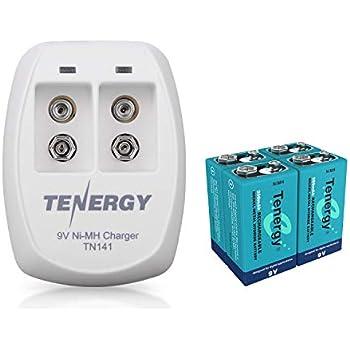 Amazon.com: EBL 9V Li-ion Rechargeable Batteries (2PC) and ...