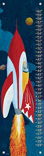 - Oopsy Daisy Rocket Man Growth Chart, Rocket Man, Red