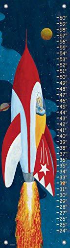 Charts Daisy Oopsy Growth Baby - Oopsy Daisy Rocket Man Growth Chart, Rocket Man, Red