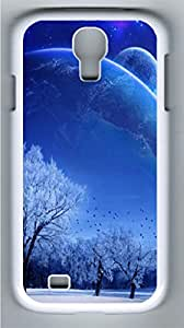 Neighbouring Planets Polycarbonate Hard Case Cover for Samsung Galaxy S4 I9500¨C White