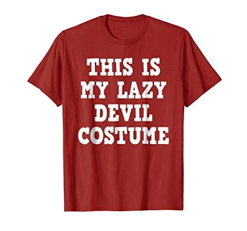 Lazy Devil Costume Red Halloween Shirt Men Women Boys Girls -