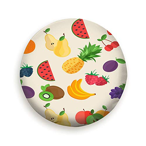 (X-Large Tire Cover Flat Fruits Fruit Food and Drink Polyester Universal Spare Wheel Tire Cover Wheel Covers Jeep Trailer Rv SUV Truck Camper Travel Trailer Accessories 14