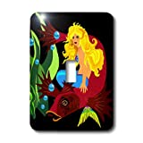 3dRose LLC lsp_18939_1 Neptunes Mermaid Bride Single Toggle Switch