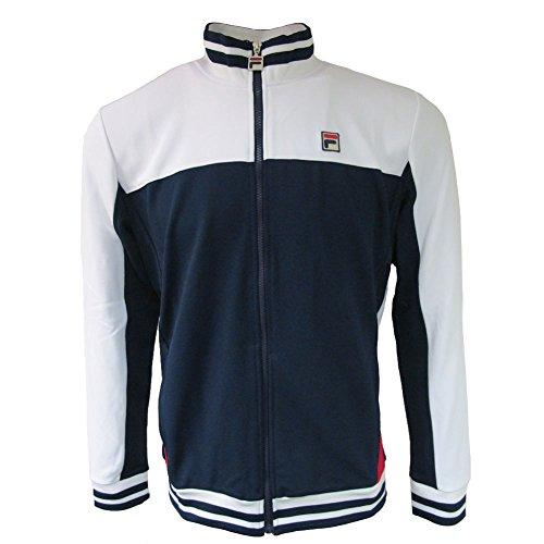 Fila Vintage Men's Tiebreaker Track Jacket, Blue, Large ()
