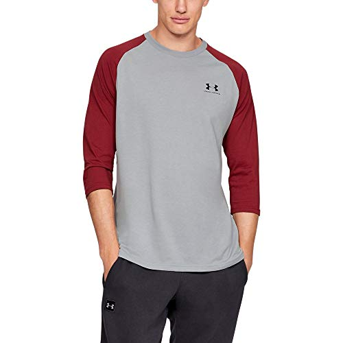 Under Armour sportstyle Left Chest 3/4 Tee, Mod Gray//Black, X-Large ()