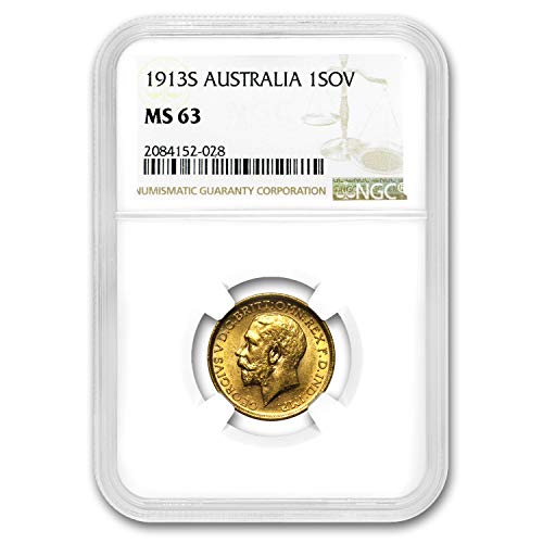 1913 AU S Australia Gold Sovereign George V MS-63 NGC Gold MS-63 NGC (Dragon Gold Coin Set)
