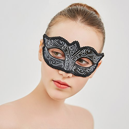 YUFENG Retro Masquerade Masks Half Face Mask Venetian Mask for Fancy Dress Costume Party -