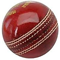 NETCO POWER Leather 2 Part Side Cricket Ball, Red