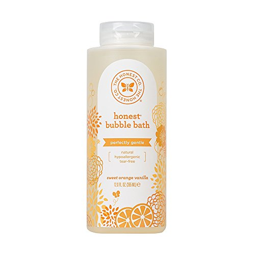The Honest Company Everyday Gentle Sweet Orange Vanilla Bubble Bath | Tear-Free Kids Bubble Bath with Naturally Derived Ingredients and Essential Oils | Sulfate- and Paraben-Free | 12 Fl. Ounces