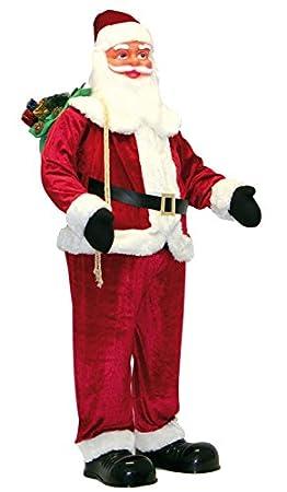 pere noel geant Père Noël géant avec fonction karaoké  150 cm: Amazon.fr: Cuisine  pere noel geant