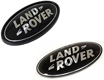 LAND ROVER RANGE ROVER SUPERCHARGED REAR LID EMBLEM LOGO BADGE SIGN DECAL SILVER