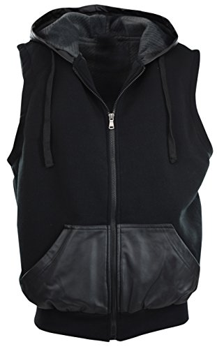 Solid Leather Vest - 8