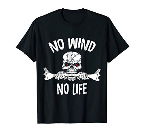 Funny Kite Surfing T-Shirt - No Wind No Life