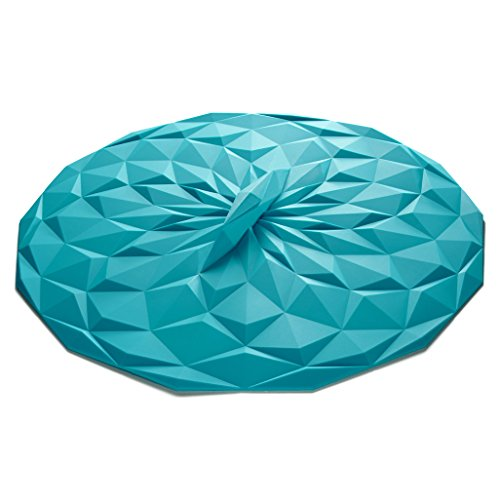 GIR: Get It Right Premium Silicone Round Lid, 4 Inches, Teal, 2 Pack by GIR: Get It Right (Image #2)
