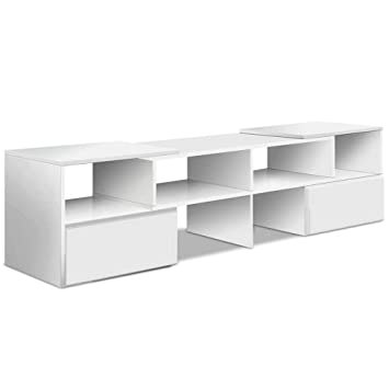 7ace83f346 Artiss TV Cabinet Length Adjustable TV Stand Entertainment Unit White