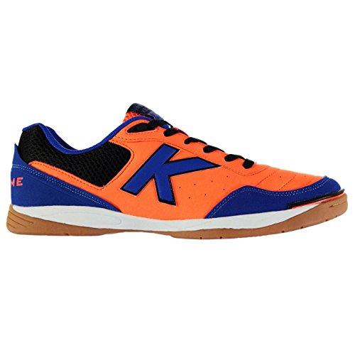Kelme Hombre K Strong Interior Corte Zapatillas Zapatos Tobillo Acolchado Naranja/Azul/Negro