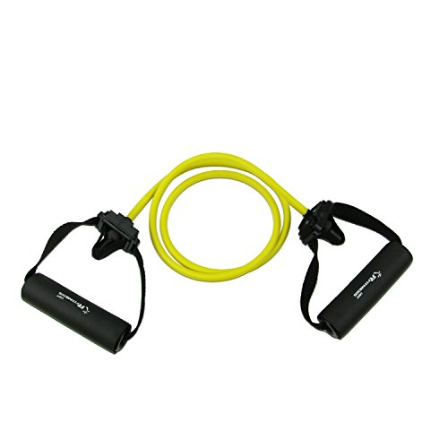 Stretch Latex (RFitness RF1505-YL Professional Stretch Latex Exercise Tubing with Sponge Handle & Door Anchor, Light,)