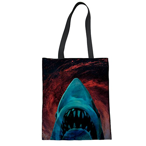 Chaqlin 1 Girls Horse Women Shark Animals Bag For And 2 Canvas aWrawvqg