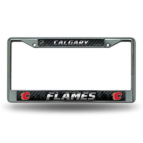 Rico Industries NHL Calgary Flames Standard Chrome License Plate -