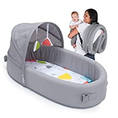 Comfortable for your baby and convenient for you, the Classic is Lulyboo's no-frills Bassinet to-go. Transforming from lounge to backpack in seconds, traveling with your baby is like a summer breeze.