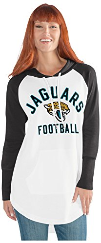 uars Adult Women All Division Tunic Hoodie, X-Large, White/Black (Jaguar Womens Long Sleeve)
