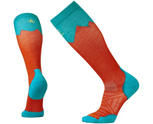 SmartWool PhD Outdoor Mountaineer Socks (Bright Orange) Large