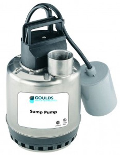 GOULDS Pumps LSP0311 Sump Pump, Manual, Stainless, 1/3 hp, 115V