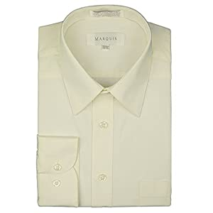 Marquis Men's Long Sleeve Regular Fit Dress Shirt - All Sizes (Including Big & Tall)