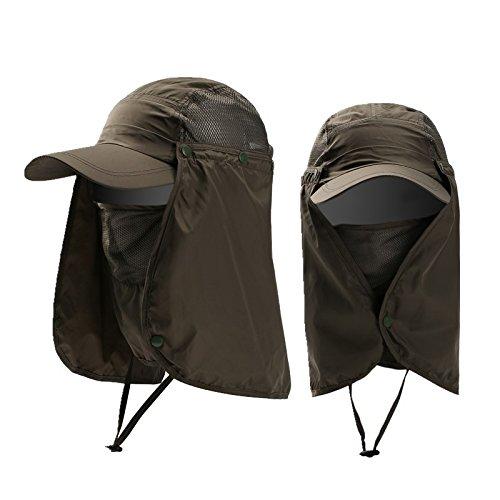 OurLeeme Pesca Senderismo de Protecci ã  ³ n Solar UV Sombrero al ... 3271149de79