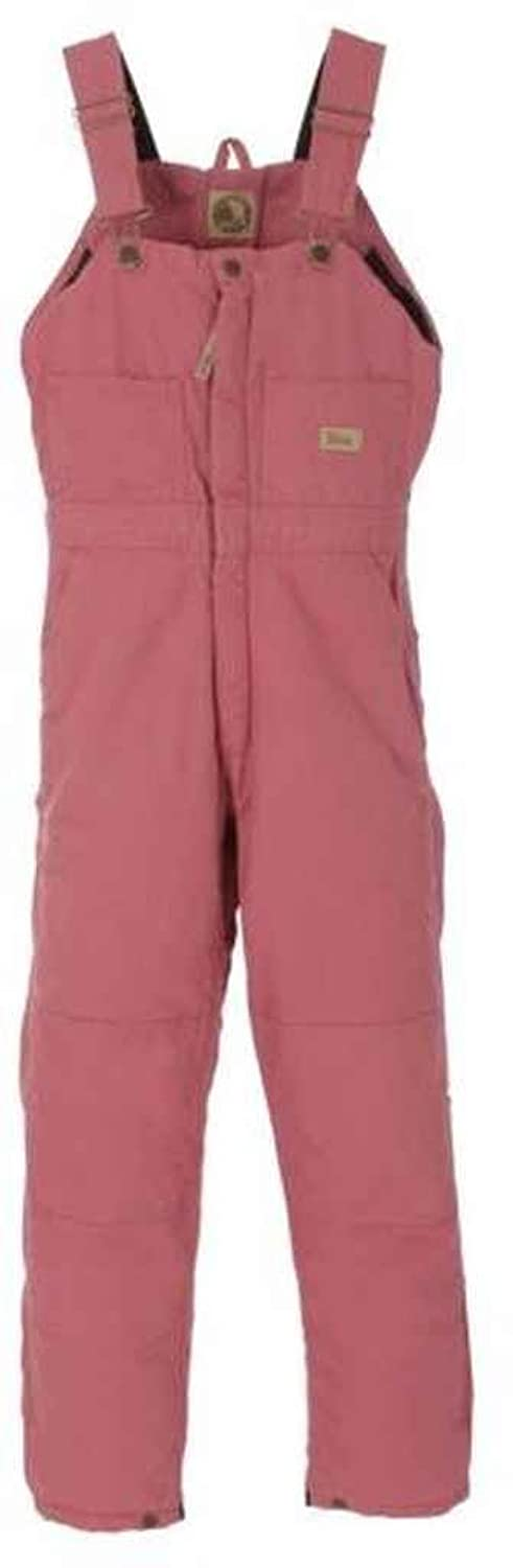Berne Apparel WB515DLLS440 Ladies Washed Insulated Bib Overall, Dark Lilac - Large