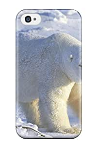 Fashion Tpu Case For Iphone 4/4s Polarbears Defender Case Cover