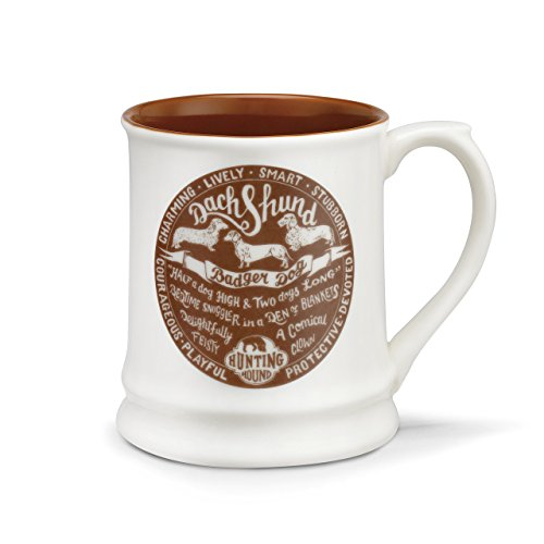 and Brown 16 Ounce Glossy Stoneware Mug With Handle ()