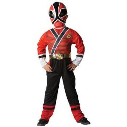 Rubie's Red Ranger Samurai Fancy Dress (Small) - Red Ranger Outfit