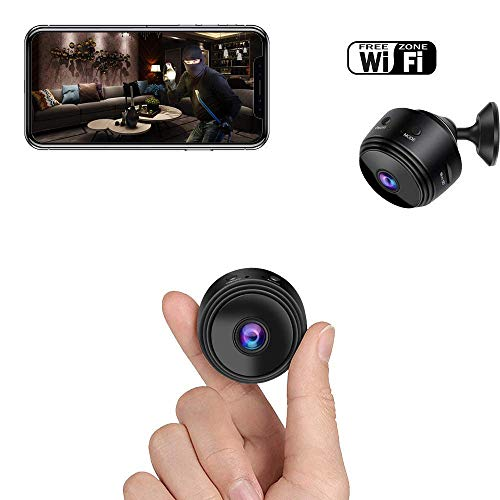 Mini Spy Camera, Bigear WiFi Hidden Camera Wireless HD 1080P Indoor Home Small Hidden Nanny Cam Security Cameras Battery Powered with Motion Detection/Night Vision for iPhone/Android Phone/iPad/PC