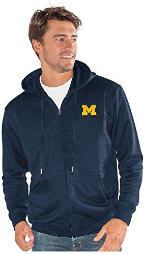 NCAA Michigan Wolverines Men's Cadence Full Zip Sweatshirt, Navy, 3X-Large -