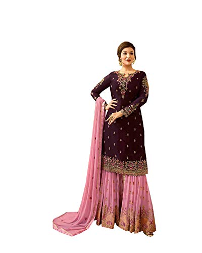(Delisa Indian/Pakistani Salwar Suit for Women Poo (Light Pink, M-40))