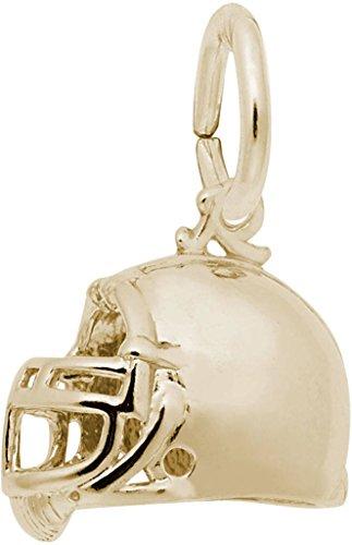 Rembrandt Classic Football Helmet Charm - Metal - 14K Yellow Gold