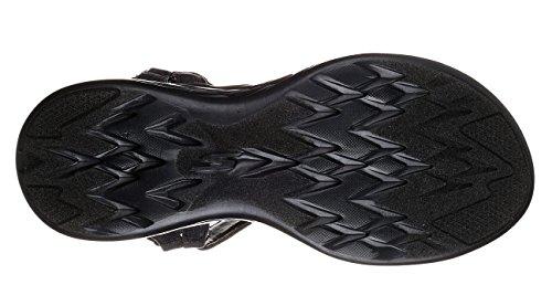 Skechers Performance Damen-600-Brilliancy Wide Sport Sandale Schwarzgrau