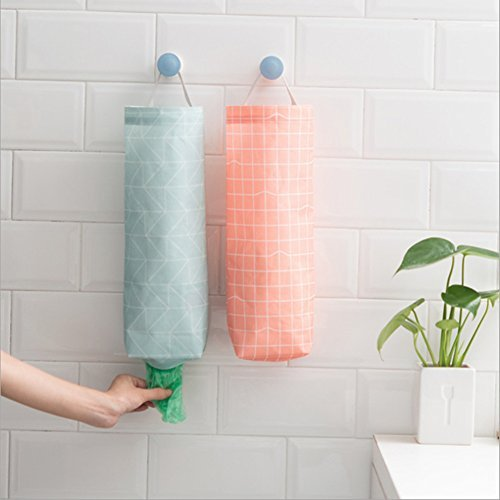 Amazon.com: AKINLY Plastic Bag Garbage Bag Holder Waterproof Wall Mount Grocery Bag Dispenser Garbage Bag Organizer for Home Office Kitchen, Set of 2 (color ...