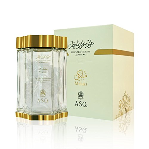 Perfumed Incense Agarwood MALAKI 70g Bakhoor - by Abdul Samad Al Qurashi - Carefully Hand Selected Perfumed Agarwood Oudh Room Fragrance Bukhoor Oud … by Unknown