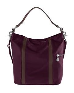 Baggallini Luggage Paige Bucket Bag, Garnet, One Size