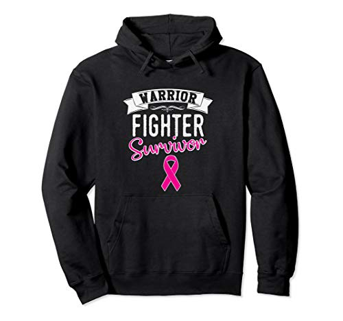 Breast Cancer Hoodie Warrior Fighter Survivor Pink Ribbon ()