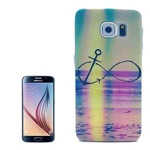 Rainbow Pattern Transparent Frame Plastic Hard Case for Samsung Galaxy S6 / G920