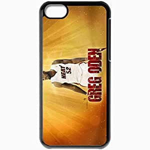 Personalized iPhone 5C Cell phone Case/Cover Skin 19 Greg Oden Miami Heat 2560x1600 basketwallpapers.com Black