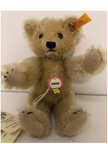 (Steiff Historic Miniature Replica Collection 16cm Old Gold Petsy Teddy Bear 029479)