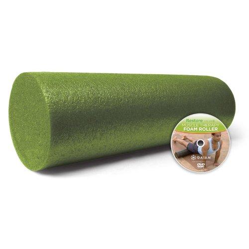 gaiam-restore-muscle-therapy-foam-roller-18-w-dvd
