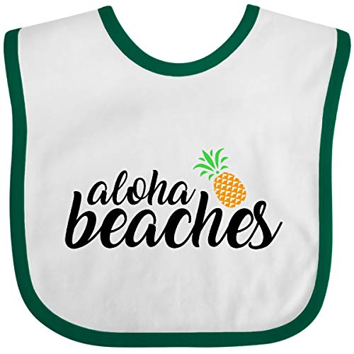 Inktastic Hawaiian Pineapple Aloha Beaches Baby Bib