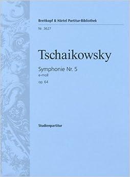 チャイコフスキー: 交響曲 第5番 ホ短調 Op.64/ブライトコップ & ヘルテル社/小型スコア